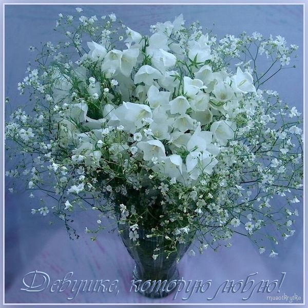 Музыкальное поздравление к 8 марта,открытка музыкальная от muzotkrytka.narod.ru,Александр Барыкин - Букет,поздравительная открытка с 8 марта,колокольчики полевые цветы букет.