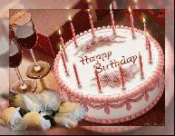 Walt Disney - Happy Happy Birthday to You, музыкальная открытка, анимационная картинка торт свечи