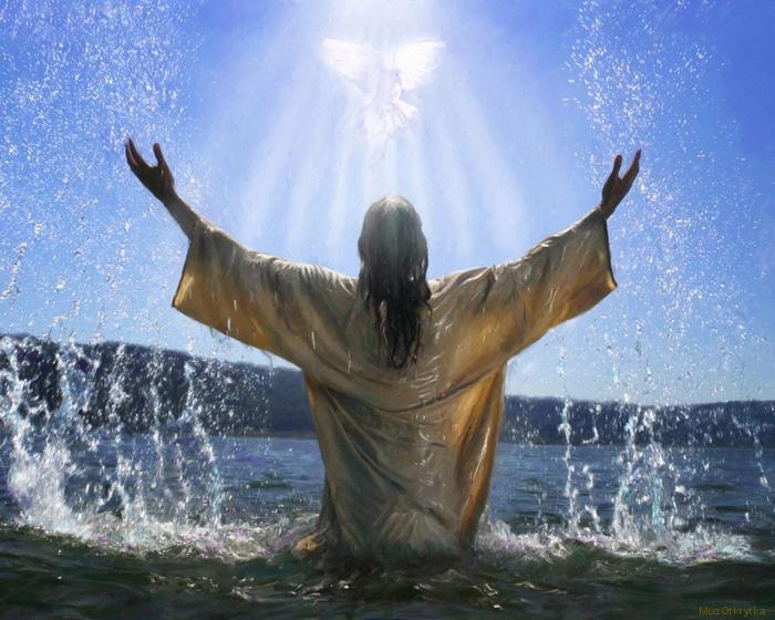 музыкальная открытка, крещение, не рыдай мене мати, открытка Крещение, зима, природа