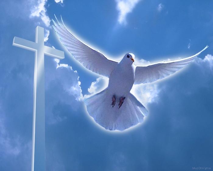 Музыкальная открытка Крещение, приспе Христос ко струям Иорданским, предпразднество Богоявление, открытка Крещение, белый голубь в небе