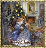 музыкальная открытка christmas day, анимационная открытка christmas day