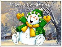 музыкальная поздравительная открытка the christmas tree, анимационная открытка
