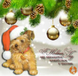 музыкальная поздравительная открытка, год собаки, анимационная открытка