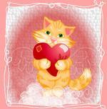 flash открытка, день влюбленных