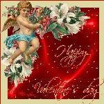 открытка день святого Валентина, амурчик