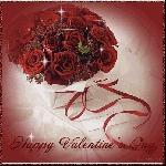 открытка день святого Валентина, розы