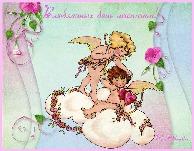 валентинов день, музыкальная открытка, анимационная открытка, ангелочки, амурчики