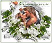 валентинов день, музыкальная открытка с кодом, анимация поцелуй, анимационная открытка