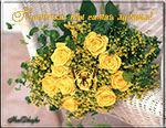 музыкальные открытки для мамы о маме, анимационая открытка маме, желтые цветы, розы, букет