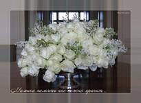 музыкальные открытки для мамы, открытка для мамы, красивый букет белых роз