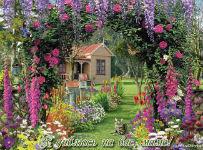 музыкальная открытка маме, анимационная открытка для мамы, окно в сад