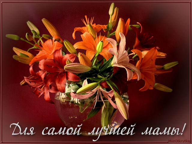 музыкальная открытка, музоткрытка, красивые букеты с кодом, любимые цветы, для самой лучшей мамы