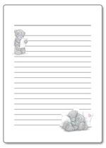 красочная бумага для писем, распечатать, шаблоны, благодарнось