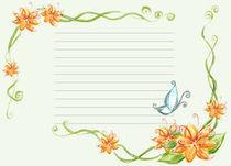 красочная бумага для писем, цветы, распечатать, шаблоны