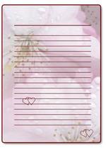 красивая бумага для письма, распечатать, бесплатные шаблоны