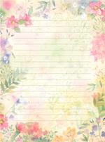 красивая бумага для писем, распечатать, шаблоны