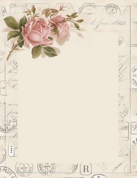 красивая бумага для письма, винтаж, распечатать, бесплатные шаблоны