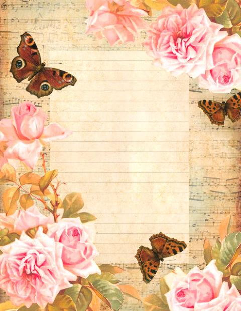 красочная бумага для письма, распечатать, бесплатные шаблоны
