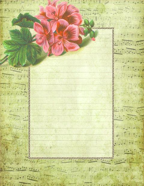 красочная бумага для письма, цветы, распечатать, шаблоны